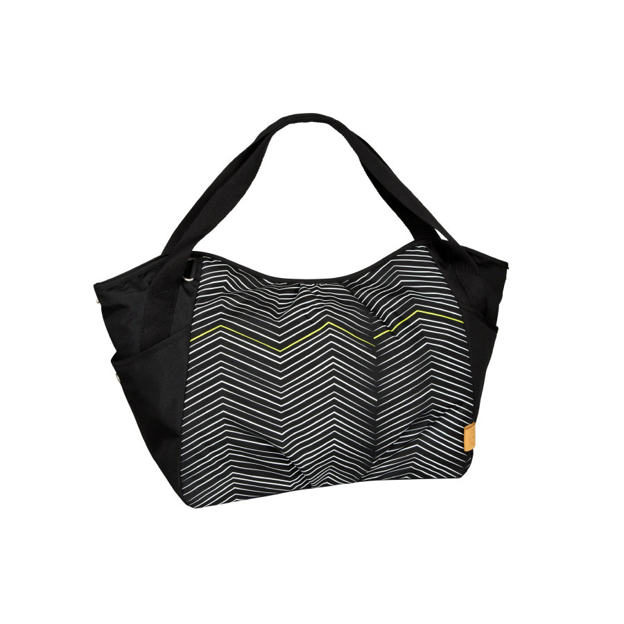 LÄSSIG Borsa Fasciatoio Casual Twin Bag Zigzag black & white