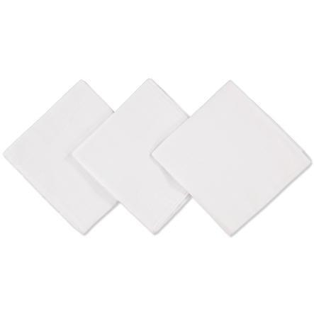 PINK OR BLUE Panno in cotone Confezione da 3 pezzi bianco