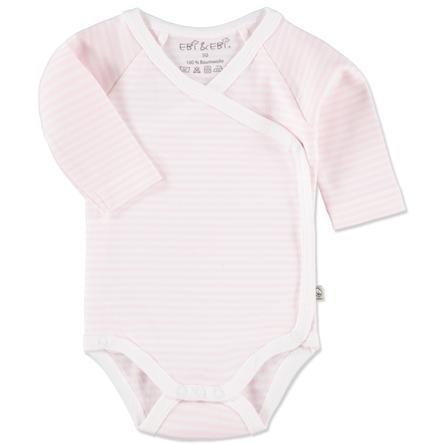 407ee1683f9c1e EBI   EBI Fairtrade Wickelbody langarm Streifen rosa - babymarkt.de