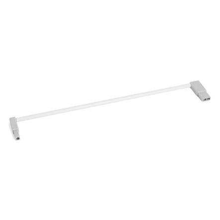 hauck Extension pour barrière de porte Trigger Lock, Deluxe Wood & Metal, Squeeze Handle Safety Gate, 7 cm, blanc