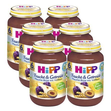 HiPP Frucht und Getreide Pflaume-Birne mit Vollkorn 6 x 190 g
