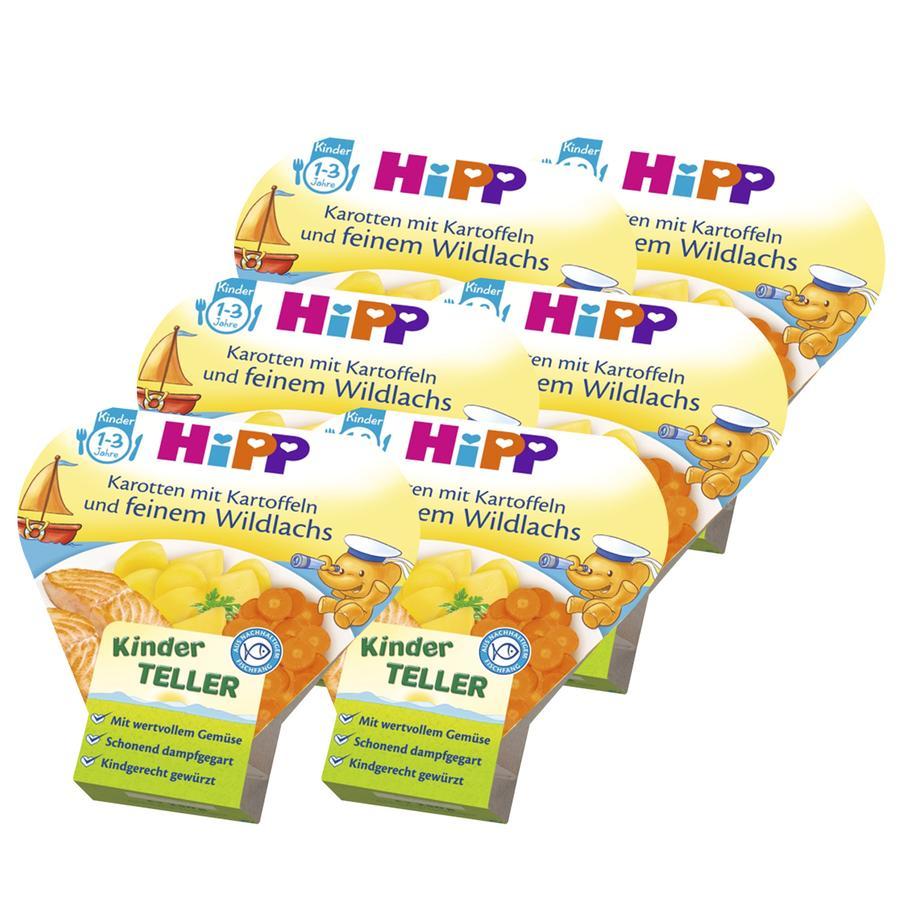 HIPP Karottenstreifen mit Kartoffeln und feinem Wildlachs 6 x 250g
