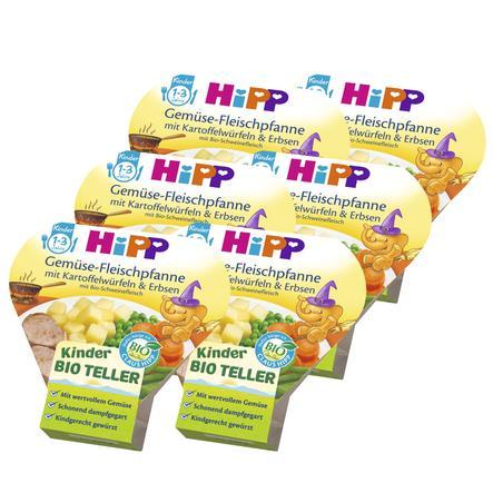 HiPP Gemüse-Fleischpfanne mit Kartoffelwürfeln und Erbsen 6 x 250 g
