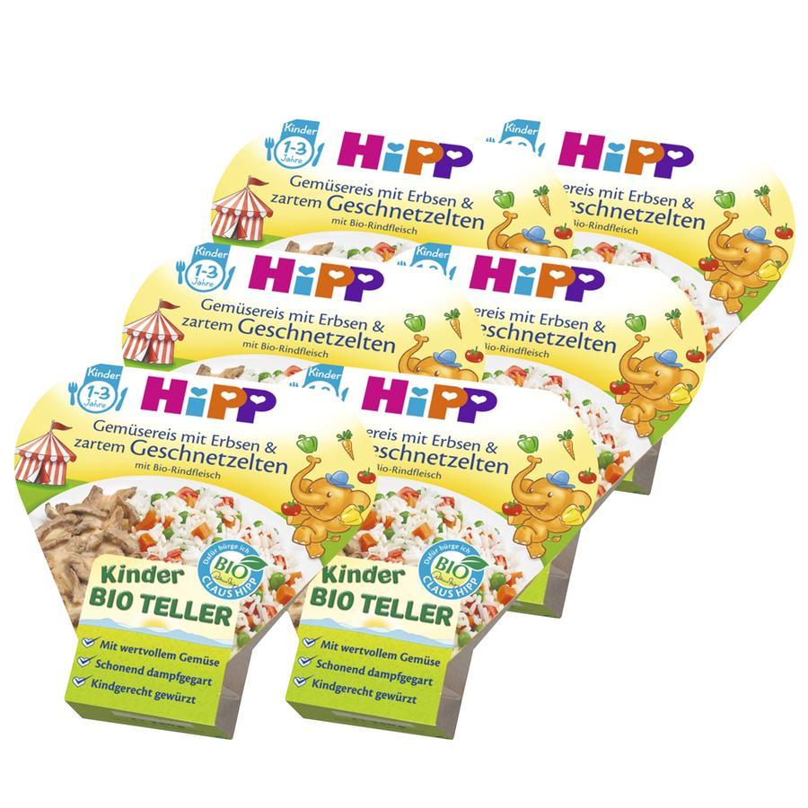 HiPP Gemüsereis mit Erbsen und zartem Geschnetzeltem 6 x 250g