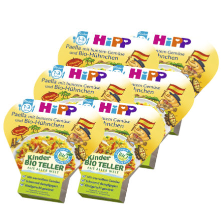 HiPP Paella mit buntem Gemüse und Bio-Hühnchen 6 x 250g