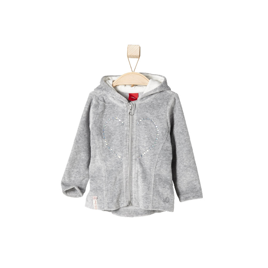 s.OLIVER Girls Mini Kurtka welurowa grey melange