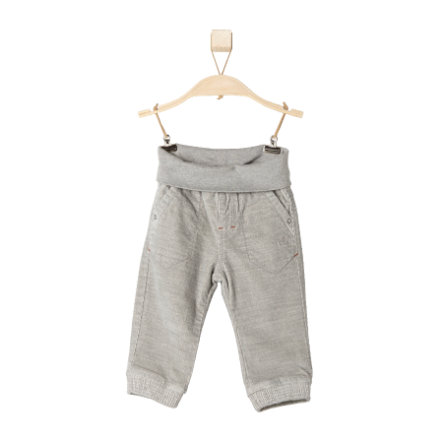 s.OLIVER Boys Mini Cordhose grey melange