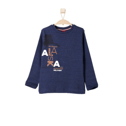 s.OLIVER Boys Mini Longsleeve blue tweed