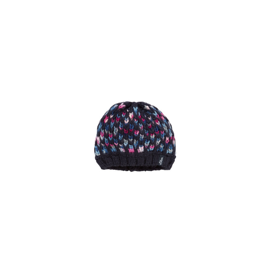 s.OLIVER Girls Mini Czapka dark blue melange