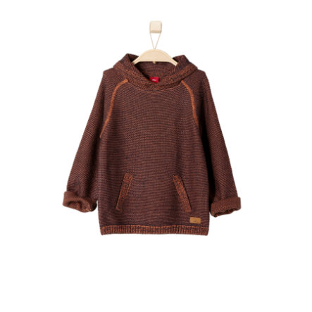 s.OLIVER Boys Mini Sweter cognac tweed