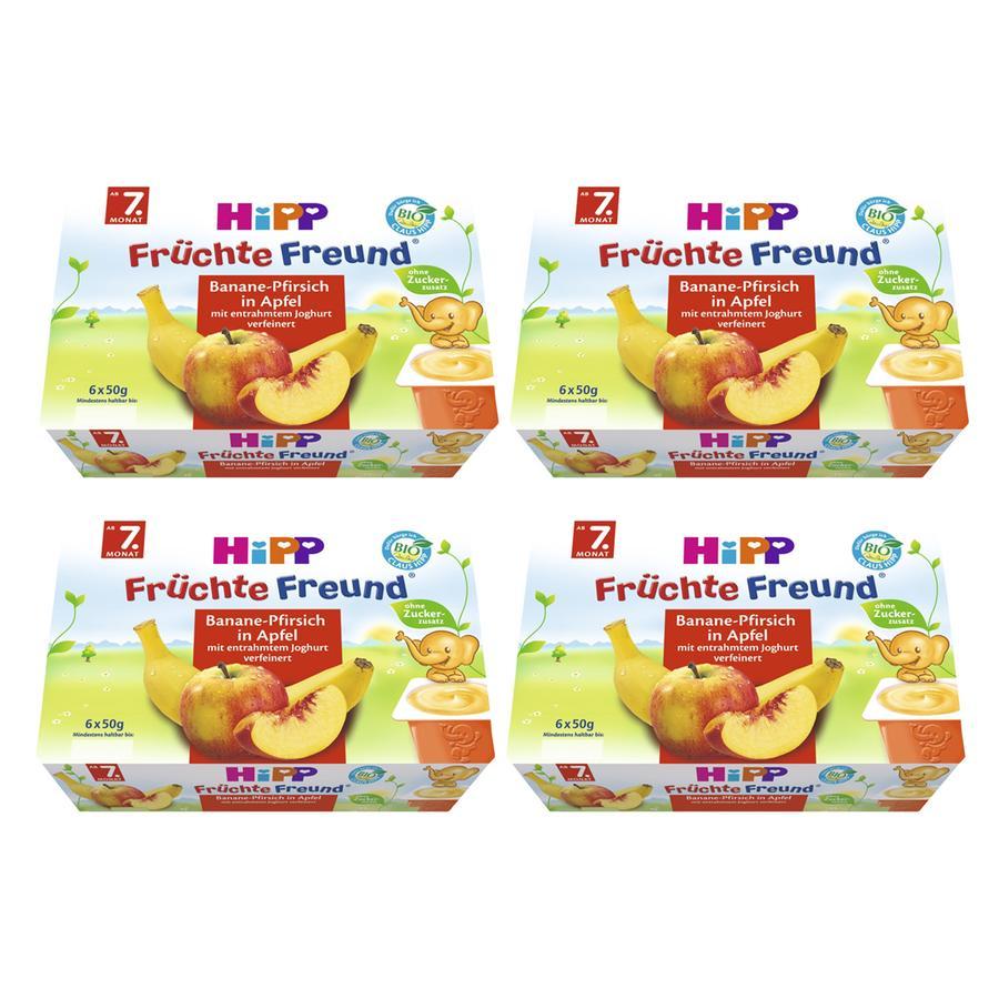 HiPP Früchte-Freund Banane-Pfirsich in Apfel 24x50g