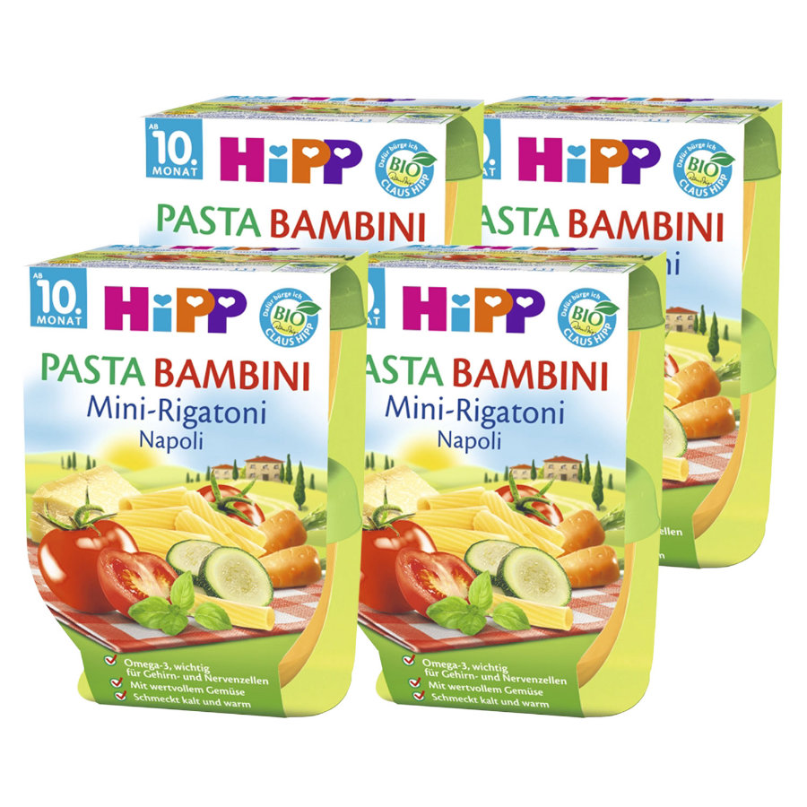 HiPP Pasta Bambini Mini Rigatoni Napoli 8x220g