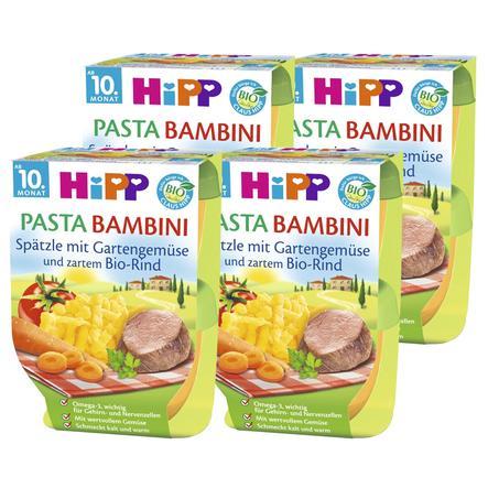 HiPP Pasta Bambini Spätzle mit Gartengemüse und zartem Bio-Rind 8x220g