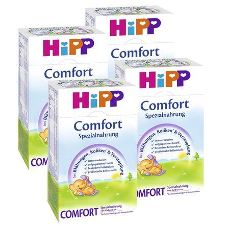 HiPP Bio-Spezialnahrung Comfort bei Blähungen und Verstopfung von Geburt an 4 x 500 g