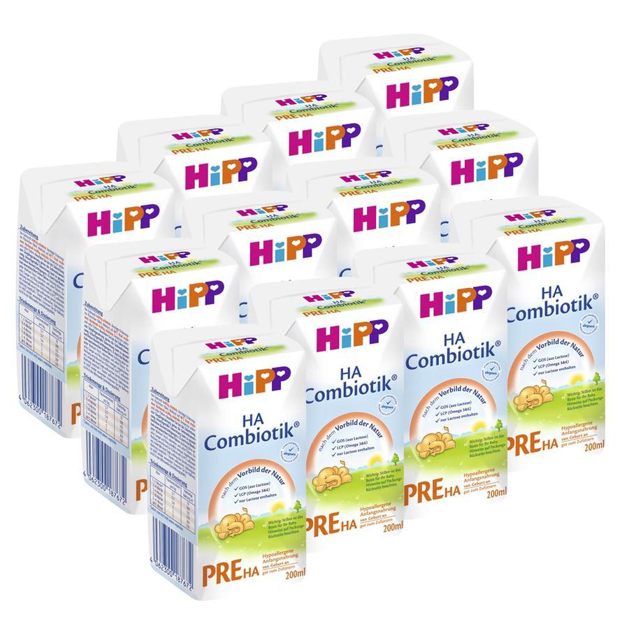 HiPP Anfangsmilch PRE HA Combiotik® flüssig 12 x 200 ml