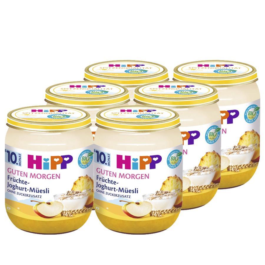 HIPP Bio Good Morning Fruit Yoghurt Muesli, 6 x 160g