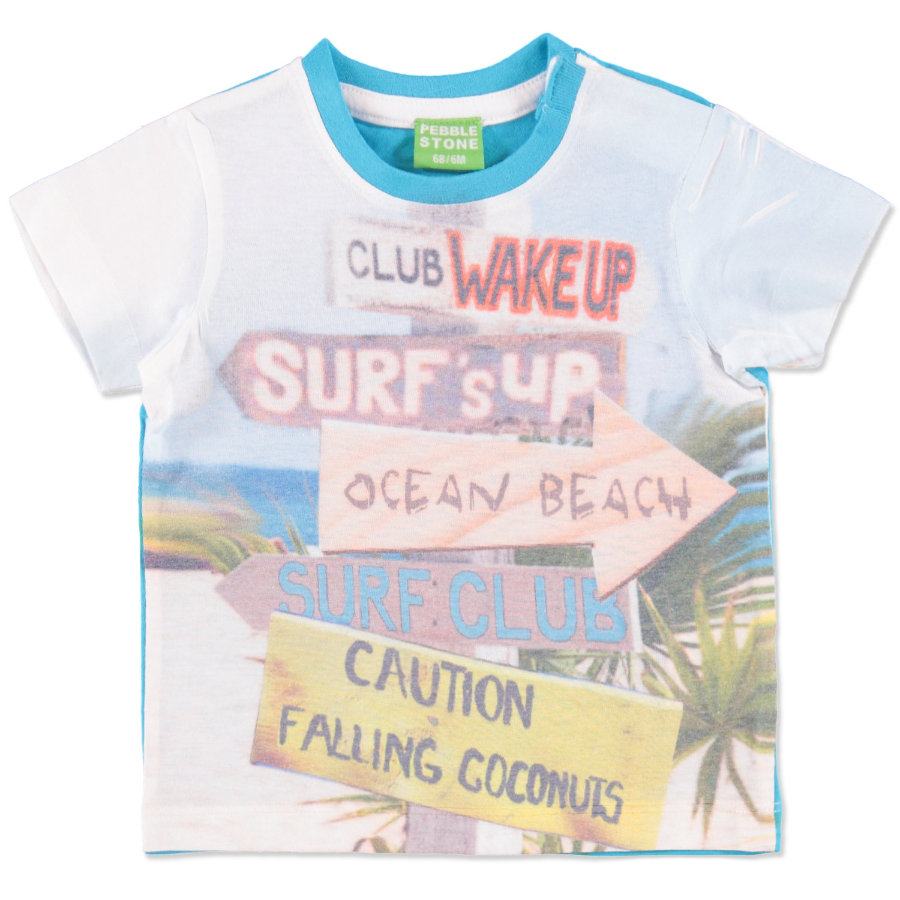 PEBBLE STONE Boys Mini T-Shirt blue