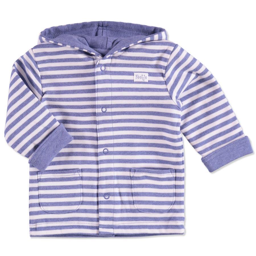 FEETJE Dětská oboustranná bunda, proužky, světle modré