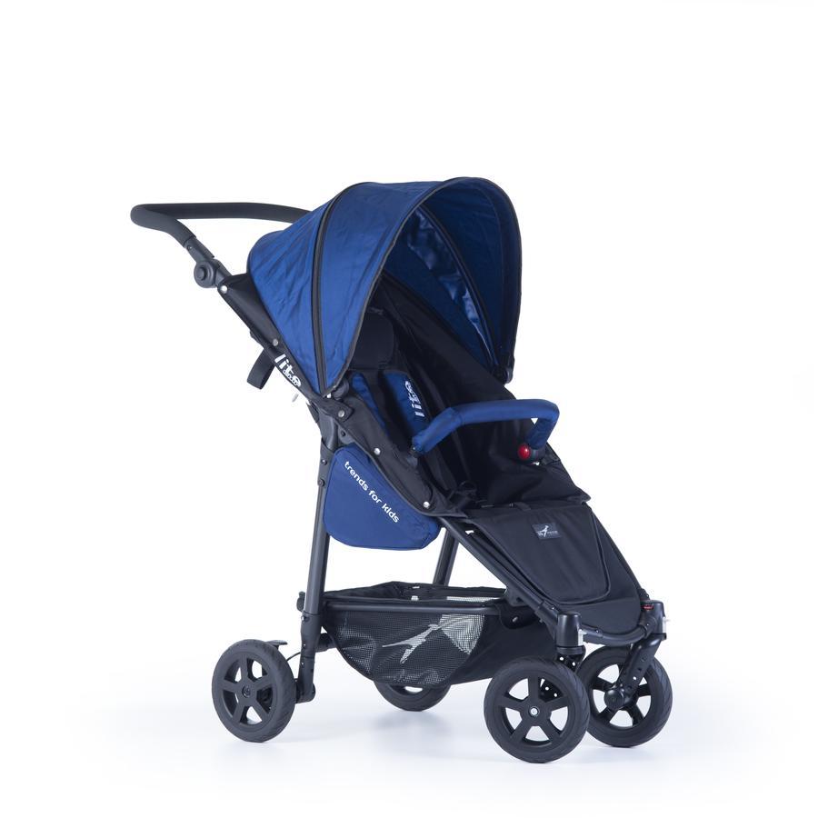 TFK Passeggino leggero Lite Mini con ruote a camera d´aria 8'' blu