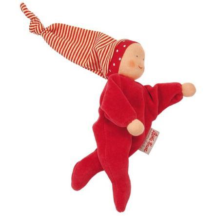 KÄTHE KRUSE Welurowa lalka kolor czerwony 20 cm