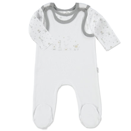 LITTLE Baby Friends Forever Stramplerset uni mit Printshirt