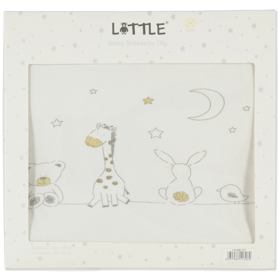 LITTLE Baby Friends forever Jersey Bettwäsche 100x 135 cm