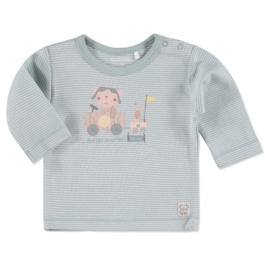 Staccato Boys Baby Shirt Streifen light jade