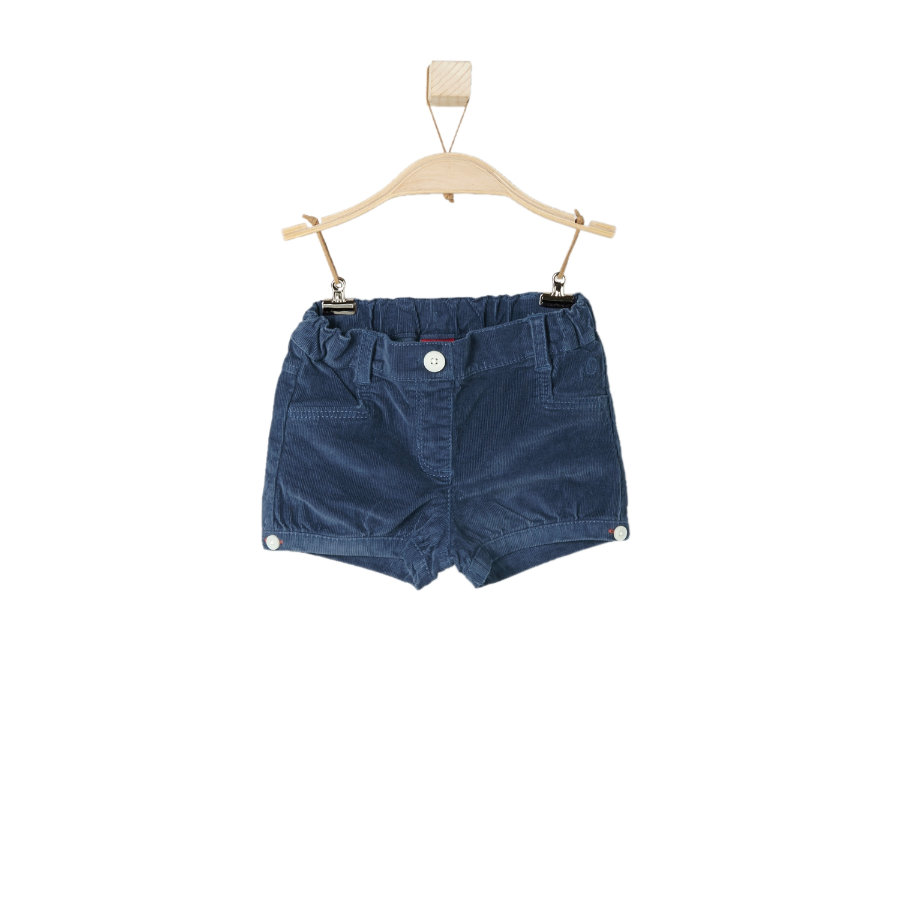 s.OLIVER Girls Mini Cord-Short blue