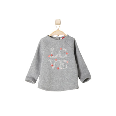 s.OLIVER Girls Mini Bluzka grey melange
