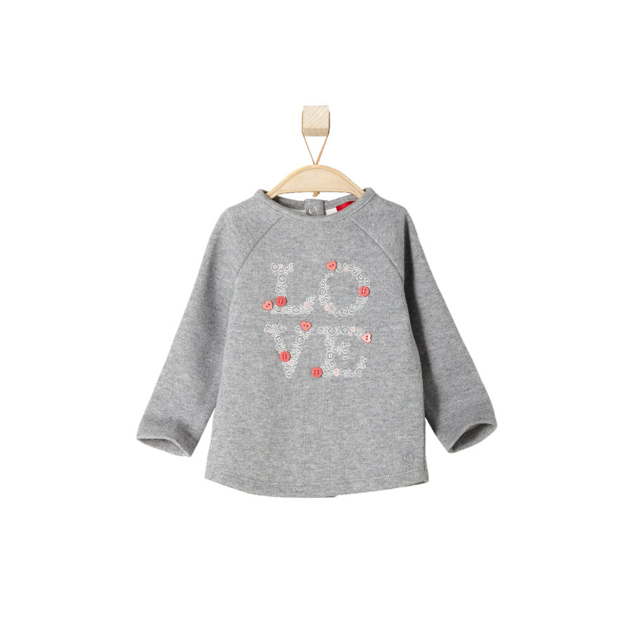 s.OLIVER Girls Mini Sweatshirt grey melange