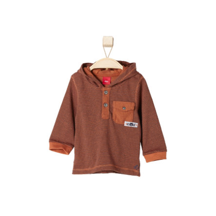 s.OLIVER Boys Mini Longsleeve cognac stripes
