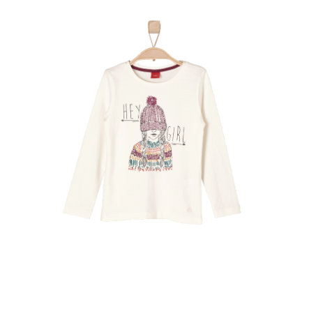 s.OLIVER Girls Mini Longsleeve ecru