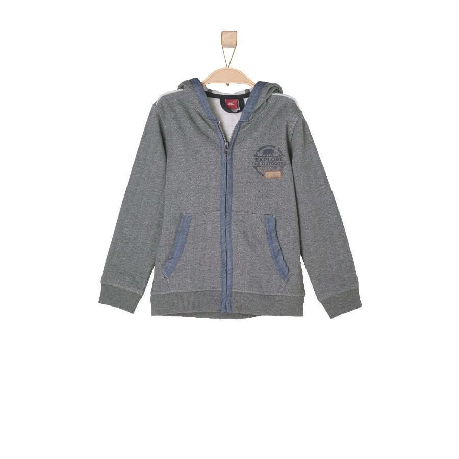 s.OLIVER Boys Mini Sweatjacke Jacke grey melange