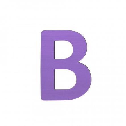 SEBRA Lettre enfant B, bois violet