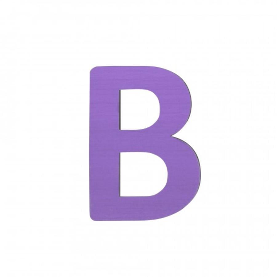 SEBRA B, lila Buchstabe
