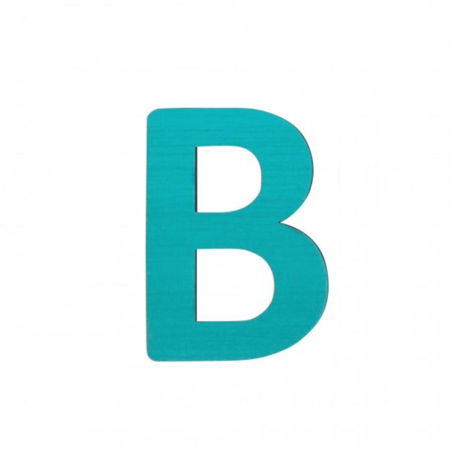 SEBRA Lettre enfant B, bois turquoise