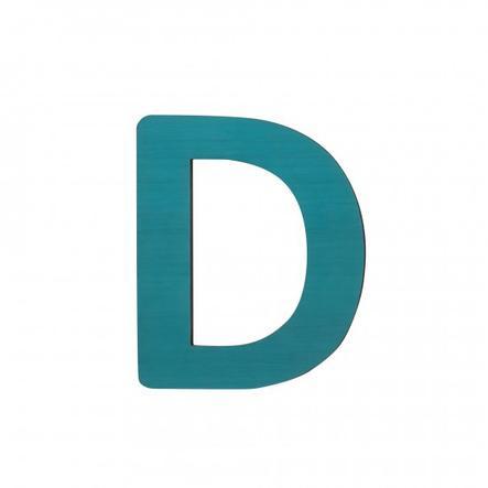 SEBRA Jouet Lettre D, bleu pétrole