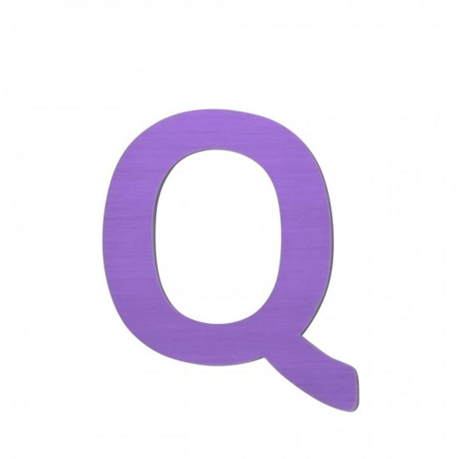 SEBRA Jouet Lettre Q, violet