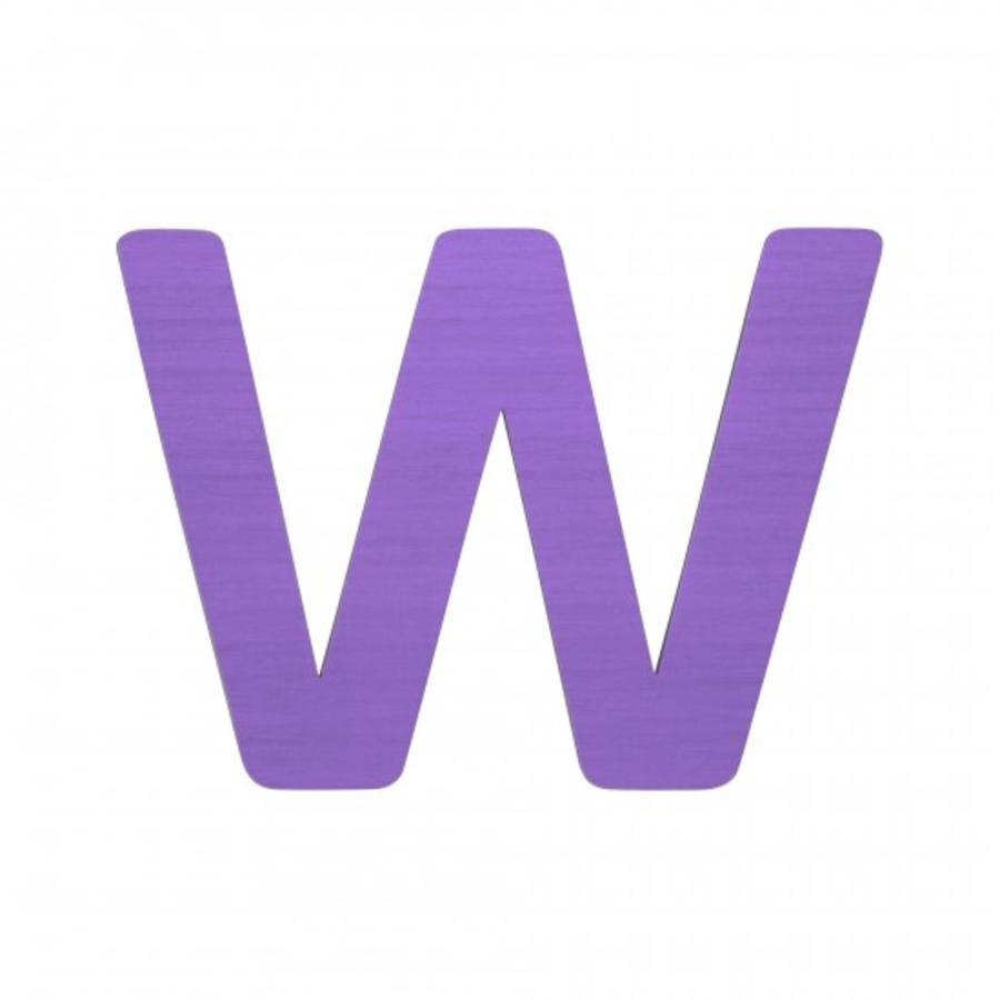 SEBRA Jouet Lettre W, violet