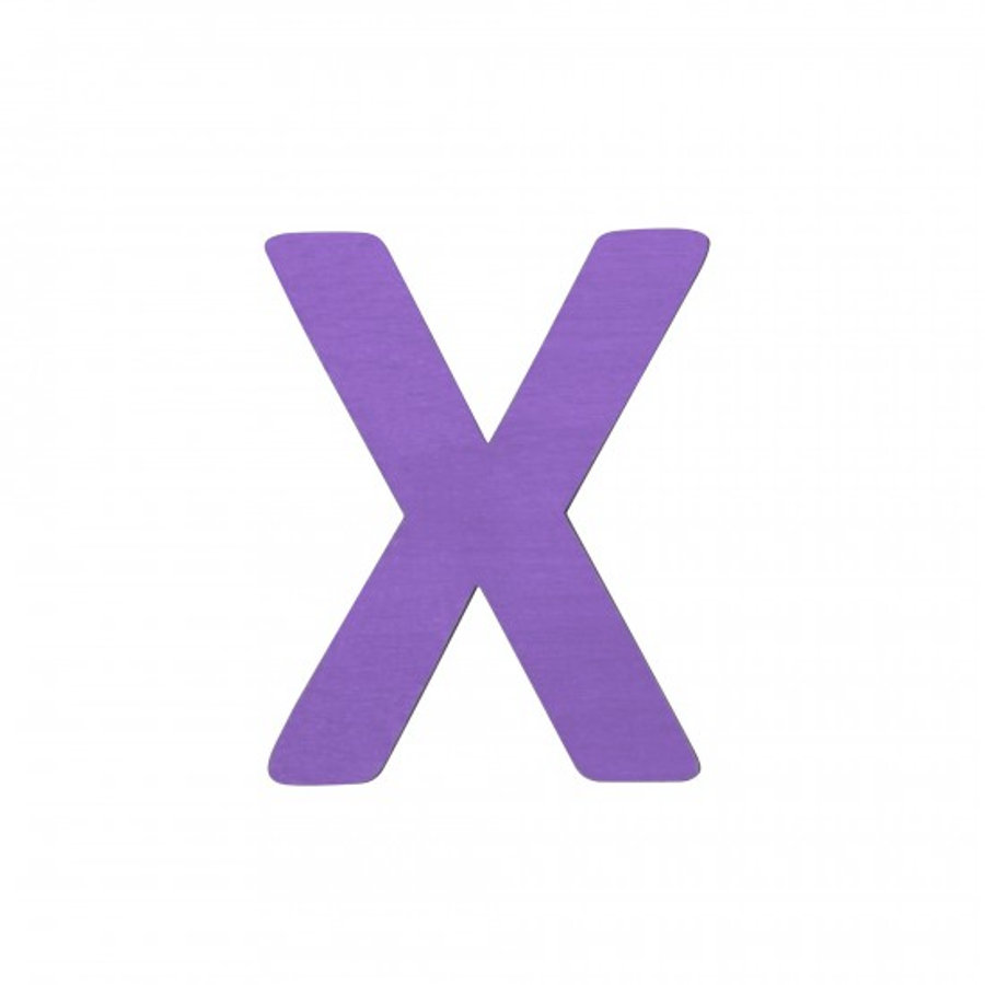 SEBRA Jouet Lettre X, violet