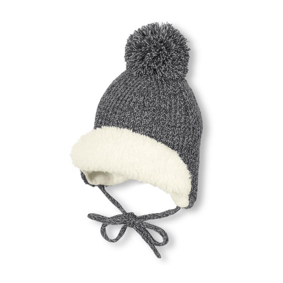 Sterntaler Dzianinowa czapka antracytowa