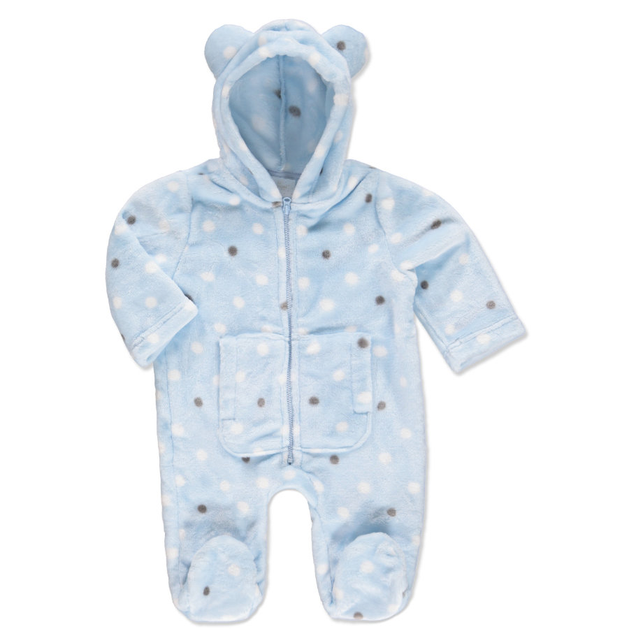 EDITION4BABYS Soft Flanell Overall blau