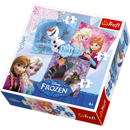 small foot® Puzzle 3 in 1 Disney Frozen
