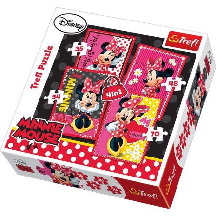 LEGLER Minnie Mouse - Puzzle 4 in 1