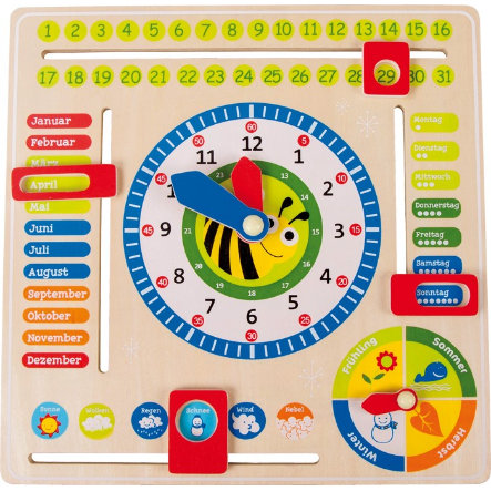 LEGLER Učící tabule, datum, čas a roční období - DE