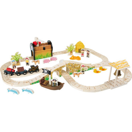 small foot® Eisenbahnset Pirateninsel
