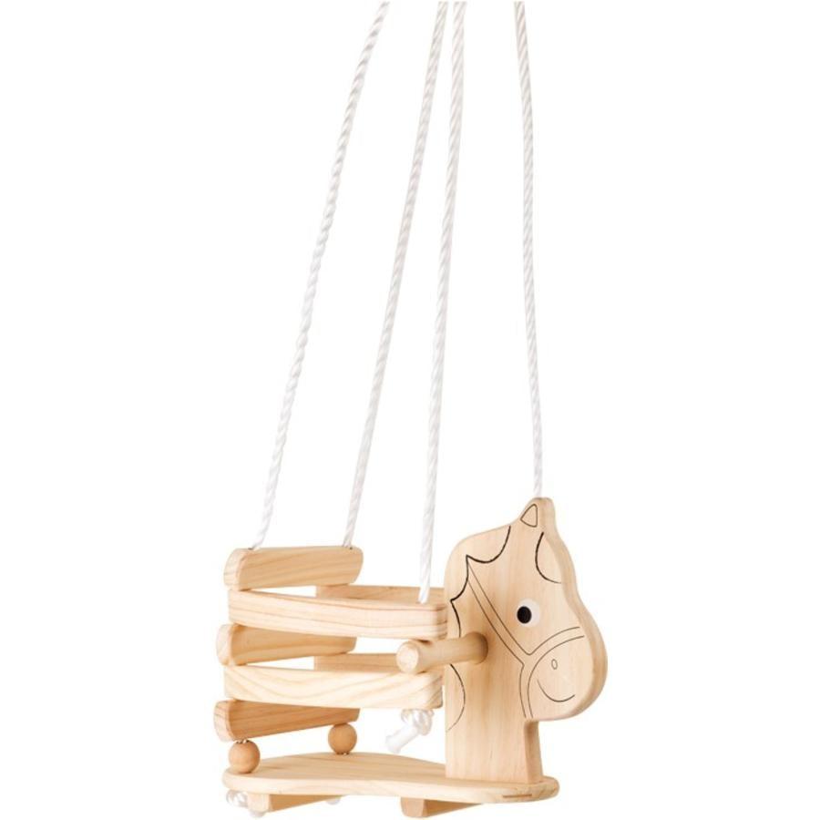 small foot® Columpio infantil Caballito de madera
