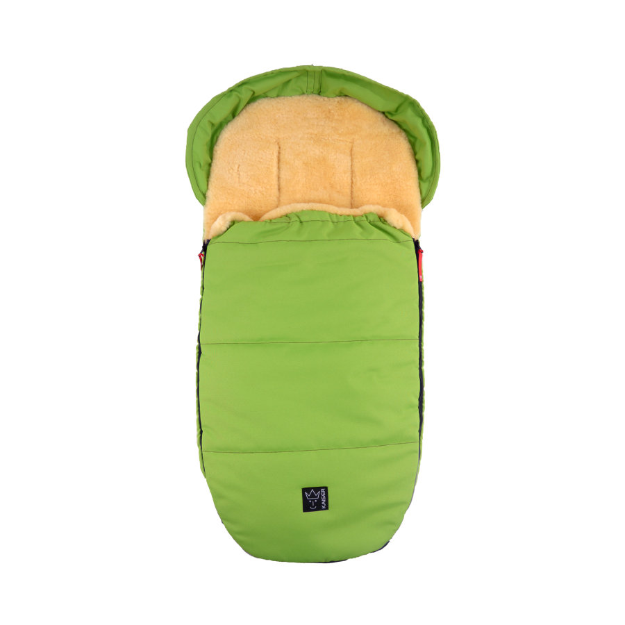 KAISER Lammfellfußsack LENNY medi super light lime