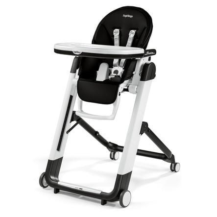 Peg-Perego Chaise haute bébé Siesta Licorice, similicuir