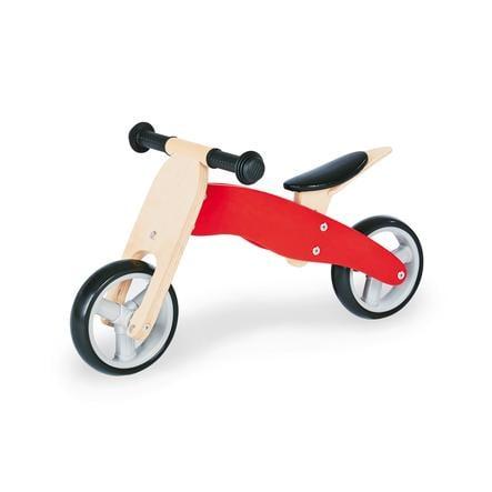 PINOLINO Mini tříkolka Charlie, červená/přírodní
